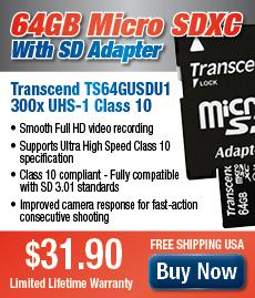 64GB Micro SDXC Transcend